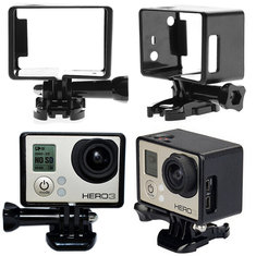 LCD Screen Border Marco FramE-mount Protective Case For Gopro 3 plus 4