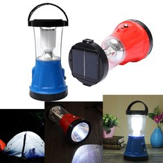 Solar LED Lantern Rechargeable Outdoor Fishing Camping Hiking Light