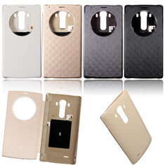 View Window NFC Wireless Charging Smart Flip Case Cover For LG G4