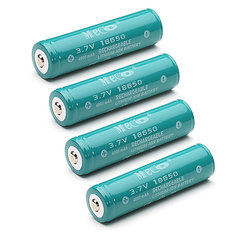4PCS MECO 3.7v 4000mAh Protected 18650 Li-ion Battery