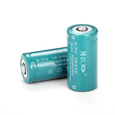 2PCS MECO 3.7v 1200mAh Reachargeable CR123A/16340 Li-ion Battery