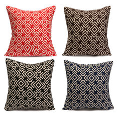 Duplex Printing Geometric Cotton Linen Pillow Cases Home Sofa Throw Cushion Cover