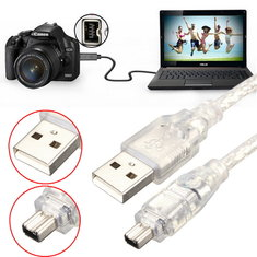 1.2M 4FT High Speed USB 2.0 Male to 4 Pin IEEE 1394 Cable Lead Extension Adapter Converter