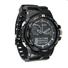 5ATM SKMEI Men's Rubber Band LED Digital Sports Waterproof Wrist Watch