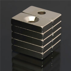 10pcs N50 20x10x4mm 4mm Hole Super Strong Block Magnets Rare Earth Neodymium Magnets