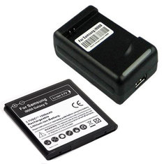 2x1500mah BATTERY+CHARGER FOR Samsung i9000 Vibrant T959