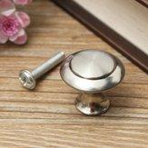 24/28mm Stainless Steel Satin Nickel Kitchen Cabinet Pull Knob Hardware Screw
