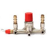 Air Compressor Double Outlet Tube Pressure Regulator Valve Fitting