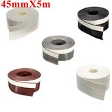 45mmX5m Window Door Silicone Rubber Seal Ring Sticker Seal Strip Adhesive