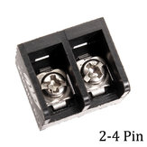 10pcs 2-4 Pin 8.25mm Barrier Screw Terminal Blocks Connectors Black