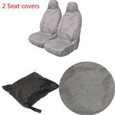 Van de coche universal de nylon impermeable asiento delantero de servicio pesado cubre protectores