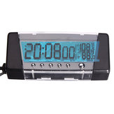 T09 Car Indoor / Outdoor Thermometer LCD Clock Display