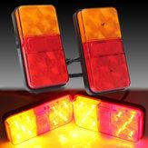 2PCS 12V 10LED Truck Car Achterstaartlamp Stop Indicator Lamp Achterlicht