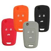 3 кнопка силиконовый чехол для ключей брелок держатель защитная крышка для Chevrolet