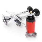 12V Air Horns Dual Trumpet Super Loud With Compressor Twin Tone