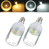 E12 3w blanco / blanco cálido 9 smd 5730 LED luz 300lm del punto del bulbo del maíz 220v