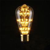 E27 ST64 3W Vintage Antique Edison Style Carbon Filament Clear Glass Bulb 220-240V