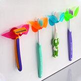 Multifunction Suction Leaf Shape Toothbrush Shaver Sundries Holder