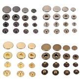 Bouton-pression en cuir de bouton-pression de pression de bouton-pression de pression de 15Pcs
