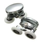2Pcs 25mm rodillos de la puerta de ducha aleación de zinc Cuarto de baño accesorios de la rueda de hardware de vidrio