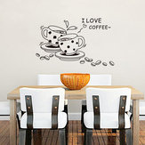Coffee Restaurant Wall Sticker 3D Home Decration Art Wallpaper