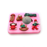 Bear Train Silicone Chocolate Cake Decorating Mold Resin Flower