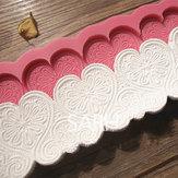 Forme de coeur fondant dentelle silicone moule de décoration de gâteau moule