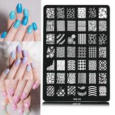 Nail Art Image Printplaat Poolse Stamp Sjabloon DIY Tips Design