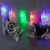 1M Multicolor LED Clip Photo String Light Christmas Party Wedding Home Decoration