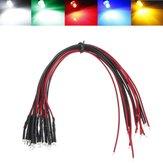 LED Light Bulb 20cm Pre Wired 10mm 12V DC Colorful F10