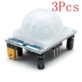 3Pcs HC-SR501 Human Infrared Sensor Module Including Lens