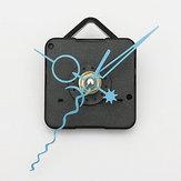 الأزرق الأيدي دي كوارتز ساعة الحائط السوداء حركة المغزل آلية