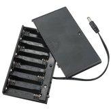 Bricolage 12V 8 x AA Batterie Boîtier de boîte de support avec commutateur de câbles