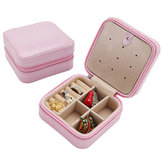 Travel Snake PU Leather Jewelry Storage Earrings Box Case