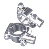 7/8 Handlebar Chrome Motorcycle Mirror Adaptor Holder Mount Brackets