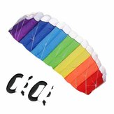 Nylon Ligne Soft plus Matériel Parachute Rainbow Sports Beach Kite