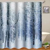 180x180cmImperméableÀL'arbreRideauDe Douche Digital Art Salle De Bains Avec 12 Pcs Crochets Décor