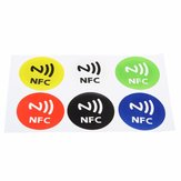 6pcs Waterproof NFC Tags NTAG213 Chip RFID Adhesive Label Sticker for all NFC Mobile Phones