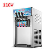 110V 1200W 18L/H 3 Flavor Steel Commercial Frozen Ice Cream Cone Maker Machine