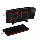 Original Projection Clock Three-Color FM Radio Alarm Clock LED Temperature Humidity Desk Table Clocks Home Decor