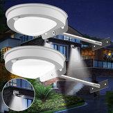 2pcs 3W 28LED Solar Powered PIR Motion Sensor Impermeable Wall Light Street Lámpara