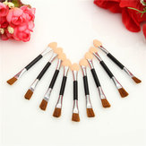 10pcs Double End Eye Shadow Brush Sponge Eyeliner Makeup Brushes Cosmetic Tool