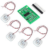 4pcs DIY 50KG Body Load Cell Weight Strain Sensor Resistance With HX711 AD Module