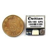 Smallest Mini Dual GLONASS+GPS BN-180 Micro Double GPS Antenna Module UART TTL For CC3D F3 RC Drone Airplane