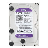 WD Purple Surveillance 2TB 3.5 inch HDD Hard Disk Drive for NVR Desktop Internal SATA 64MB Cache
