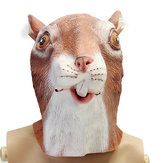 Cute Squirrel Mask Creepy Animal Halloween Costume Theater Prop Party Cosplay Deluxe Latex