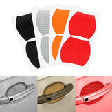 Original 4Pcs Universal Carbon Fiber Car Side Door Handle Guard Stickers Scratch Paint Protective Films