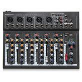 ELMPortable7canauxprofessionnelStudio audio mélangeur USB Console de mixage KTV DJ Karaoké