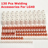 130pcs PT-31 LG40 Air LG40 Plasma Cutting Cutter Accessories Electrode Nozzle