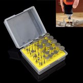 50pcs Diamond Coated Grinding Head Set Grinding Burrs for Rotary Tool
